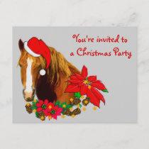 Christmas Horse Invitation