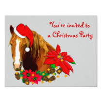 Christmas Horse Invitation