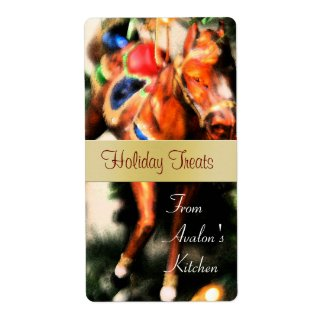 Christmas Horse Kitchen Treat Baking Label