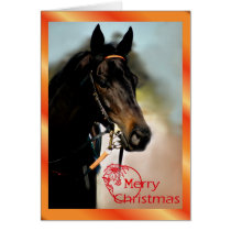 Christmas horse Merry Christmas animal xmas Card
