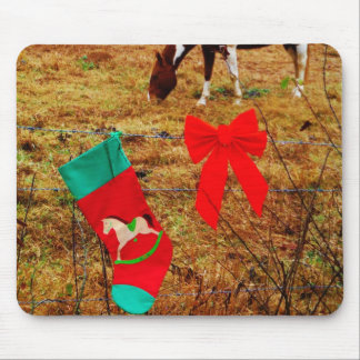 Christmas Horse Mouse Pads