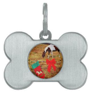 Christmas Horse Pet Tags