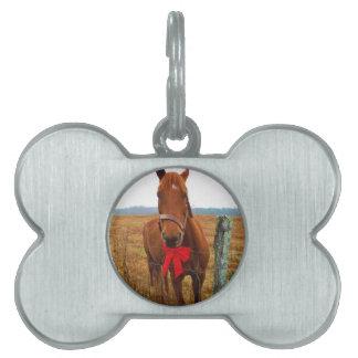 Christmas Horse Pet ID Tag