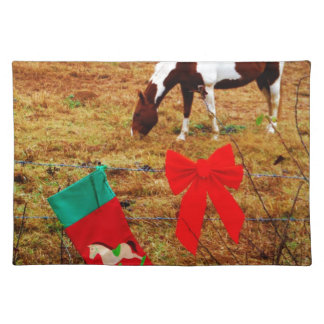 Christmas Horse Placemat
