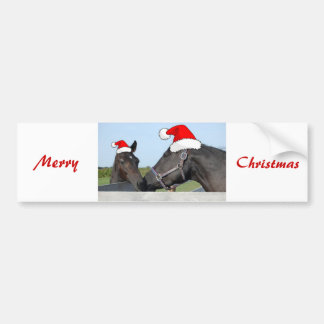 Christmas Horse & Pony Bumper Sticker