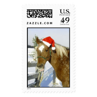 Christmas Horse Postage Stamp