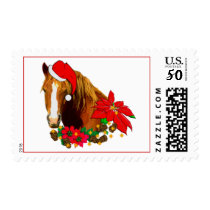 Christmas Horse Postage