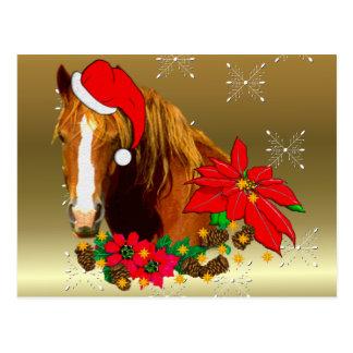 Christmas Horse Postcard