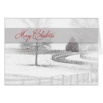 Christmas- Horse Ranch-Winter/Snow Card