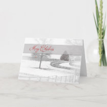 Christmas- Horse Ranch-Winter/Snow Holiday Card