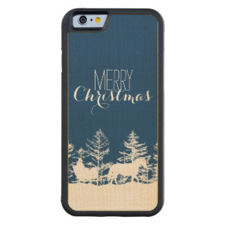 Christmas Horse Sleigh Carved® Maple iPhone 6 Bumper Case