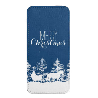 Christmas Horse Sleigh iPhone SE/5/5s/5c Pouch