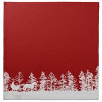 Christmas Horse Sleigh Napkin