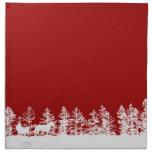 Christmas Horse Sleigh Printed Napkin