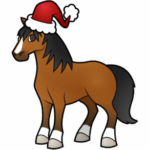 Christmas Horse Cartoon.Christmas Horse Statuette