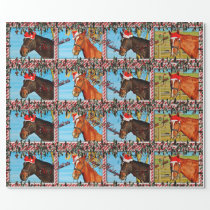 Christmas Horse Wrapping Paper