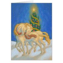 Christmas Horses Card