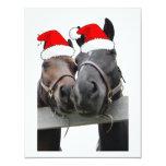 Christmas Horses Custom Invite
