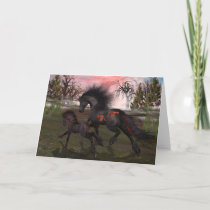 Christmas Horses Greeting Card, envelopes included Holiday Card