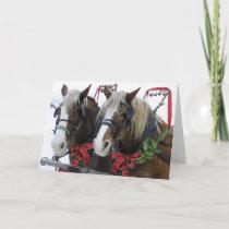 Christmas Horses Holiday Card