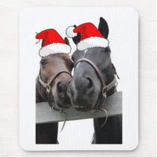 Christmas Horses Mouse Pad
