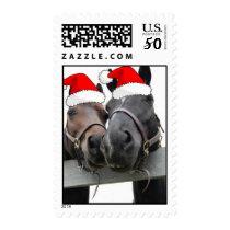 Christmas Horses Postage