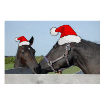 Christmas Horses Poster
