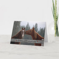 Christmas Horses Sending a Little Love Your Way Holiday Card
