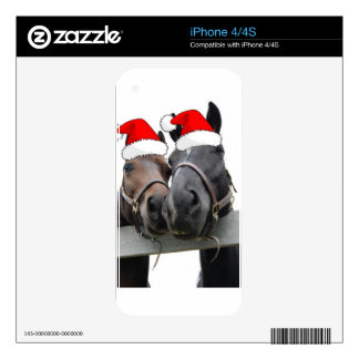 Christmas Horses Skins For iPhone 4