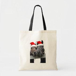 Christmas Horses Tote Bag