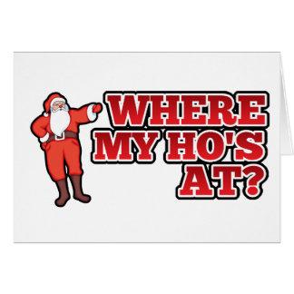 Christmas hos card