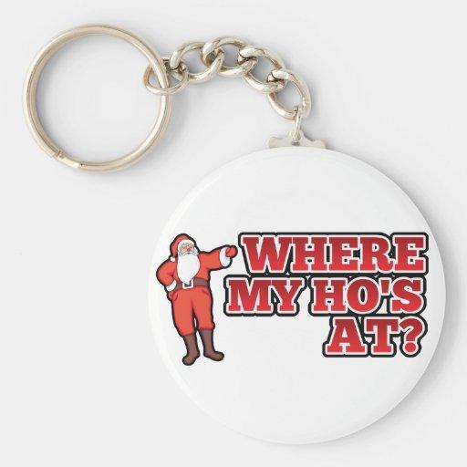 Christmas hos keychain