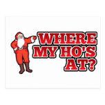 Christmas hos postcard