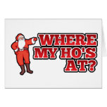 Christmas hos stationery note card