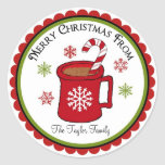 Christmas Hot Chocolate Holiday Stickers