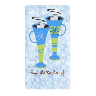 Christmas Hot Chocolate Kitchen Labels