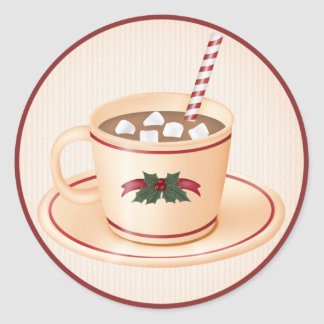 Christmas Hot Cocoa 1  - Holiday Stickers
