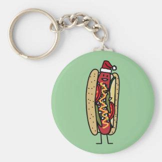 Christmas Hot dog Chicago Style Keychain