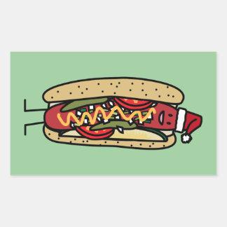 Christmas Hot dog Chicago Style Rectangular Sticker