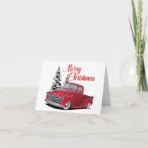 Christmas Hot Rod Truck Card