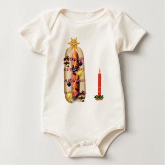 Christmas Hotdog Baby Bodysuit