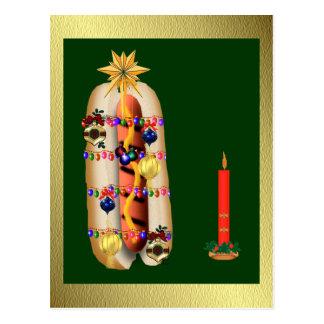 Christmas Hotdog Postcard