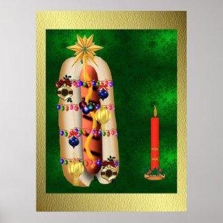 Christmas Hotdog print