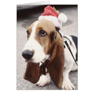 Christmas Hound Greeting Card
