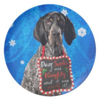 Christmas Hound Plate
