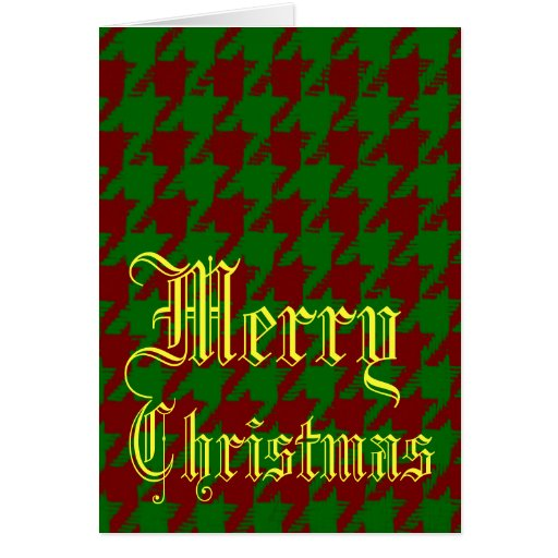 Christmas Houndstooth Greeting Card