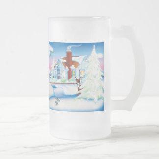 Christmas House: Frosted Glass Mug