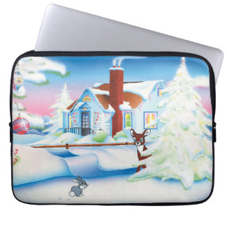 Christmas House Laptop Sleeves