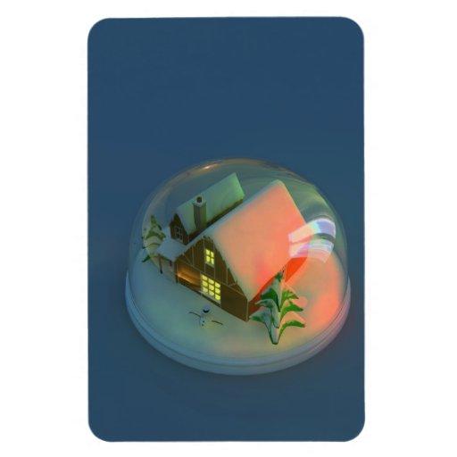 Christmas House snow globe Premium Flexi Magnet