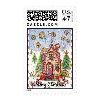 Christmas House stamp